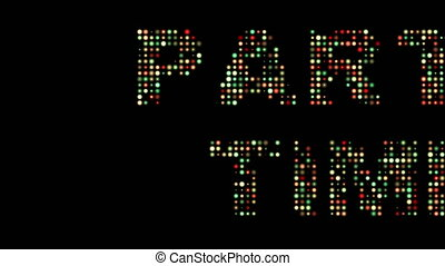 Party time colorful led text