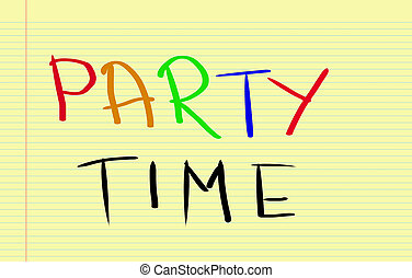 Party Time Concept