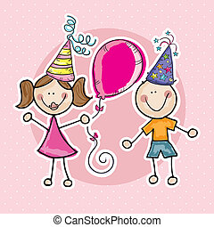 Party Time Icons - Party Time Colorful Icons ( for birthday...