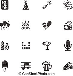 Party time icons set