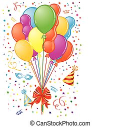 Party time - Party Time theme with Balloon, streamer, bow,...