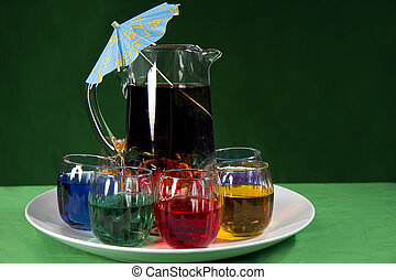 Party Tray Beverages - Tall pitcher filled with beverage ...