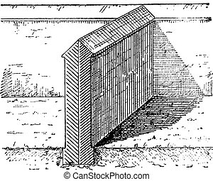 Party Wall, vintage engraving