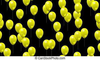 Party yellow balloons seamless loop