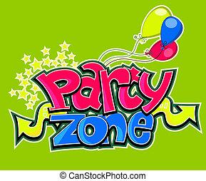 Party zone vector