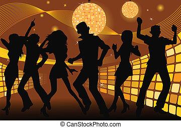 partying, emberek