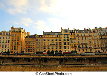 paryż, domy