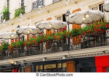 paryż, kawiarnia