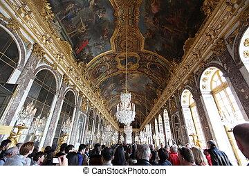 paryż, -, kwiecień, 28., wizytatorzy, na, kolejka, dla,...
