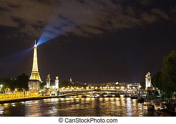 paryż, magia, noc