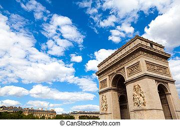 paryż, od, łuk, triomphe