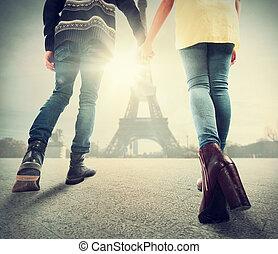 paryż, para, miłość