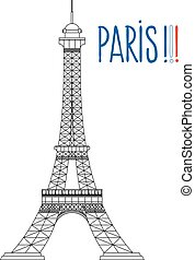 paryż, symbol, eiffel wieża
