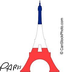 paryż, wieża, eiffel