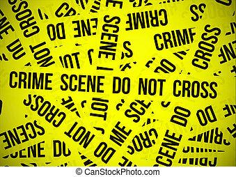 pas, crime, croix, scène