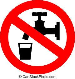 pas, eau, boisson