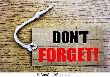 pas, rappel, message, business, forget., espace, étiquette, papier, fond, bois, vente, copie, coût, ligne, vendange, concept, écrit
