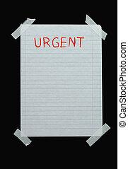 pas, urgent, espace