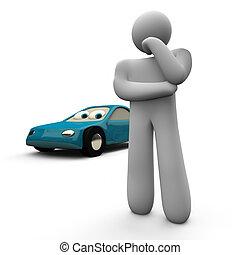 pas, voiture, achat, ou