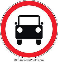 pas, voiture, conduire, panneaux signalisations