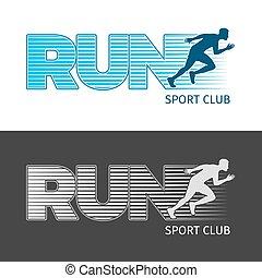 pasaż, obrazy, dwa, club., wyścigi, sport, człowiek