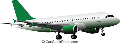 pasażer, ve, powietrze., airplane.