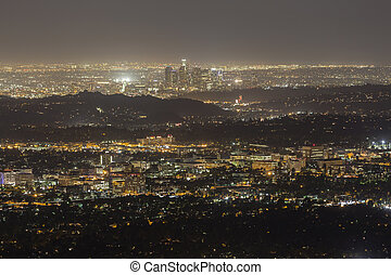 Pasadena and Downtown Los Angeles Night