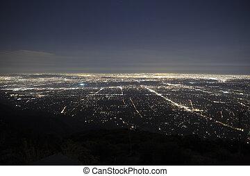 pasadena, california, noche