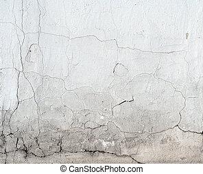 pasado, columna, agua, damage., señales, pie