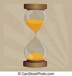 pasado de moda, reloj de arena