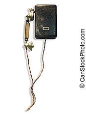 pasado de moda, wall-mounted, central, batería, sistema,...