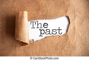 pasado, destapado, rollo papel