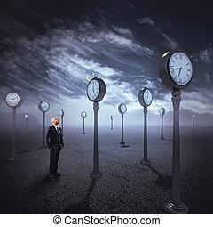 pasaje, observar, tiempo