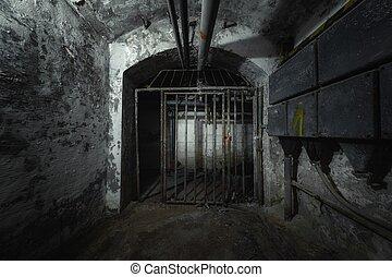 pasaje, viejo, punto, vista, metro, abandonado