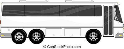 pasajero, aislado, autobús