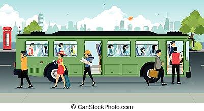 pasajero, autobús
