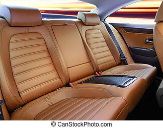 pasajero, espalda, asientos