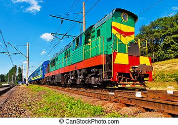 pasajero, tren,  Diesel