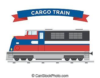 pasajero, vector, transporte, colección, trenes