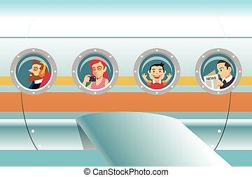 pasajeros, avión