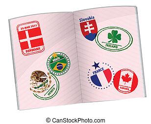 pasaporte, ilustración