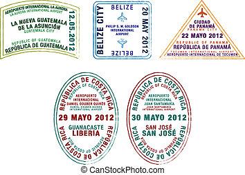 pasaporte, sellos