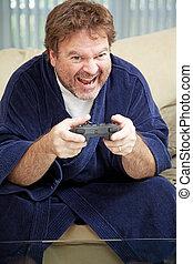 pasas, otthon, játék video játék