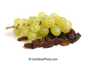 pasas, uvas, ramo