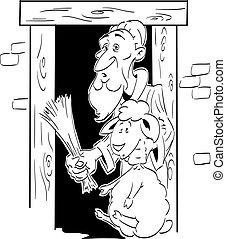 Paschal lamb - The origin of the paschal lamb. Old Jewish...