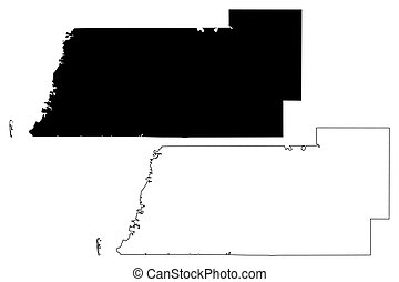 Pasco County, Florida (U.S. county, United States of America, USA, U.S., US) map vector illustration, scribble sketch Pasco map