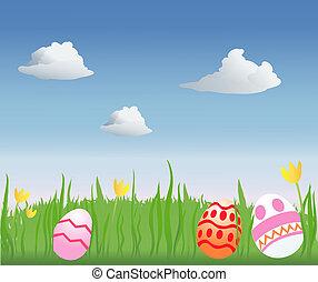 pascua, caza, huevo
