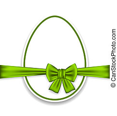 pascua, celebración, huevo, envoltura, verde, arco
