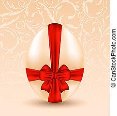 pascua, celebración, plano de fondo, con, tradicional, huevo