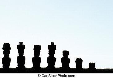 pascua, chile, isla, moai-